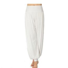 Wholesale Belly Dance Pants Black - S5Q Women Lady Harem Yoga Cotton Comfy Long Pants Belly Dance Boho Wide Trousers AAABOF