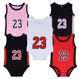 Wholesale Unisex Baby Clothing - Baby digital romper summer infant 23 number Jumpsuits kids Climbing clothes Toddler Infant Outwear baby boy's rompers baby Clothes