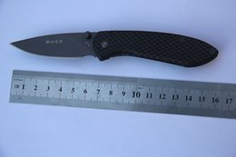 Wholesale Sports Knifes - BUCK 327 NOBLEMAN CARBON FIBRE FOLDING KNIFE use for camping sport