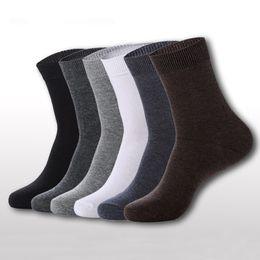 Wholesale Wholesale White Knee Socks - Wholesale-Men's Breathable Socks Classic Business Brand 100% Cotton Man Socks Sport Casual Winter Thermal Socks Calcetines 5 Color
