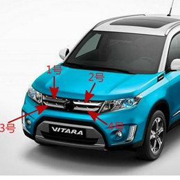 Wholesale Grill Grids - For Suzuki Vitara 2016 ABS Chrome Trim Chromium Styling Car Front Grill Grid Covers Exterior Decoration Auto Accessories