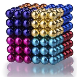 Wholesale Magic Block Puzzles - Colorful Magnetic Ball,DIY 8 Color Magic Puzzle Building Blocks Toys for Intelligence Development 0.2 Inches, Set of 216 Balls