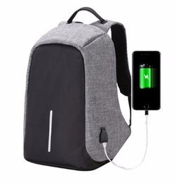 Wholesale College Backpacks Men - Fashion Canvas Men college university Backpack Anti Theft With Usb Charging Laptop Business Unisex Knapsack Waterproof Women Travel Bag