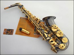 Wholesale Saxophone Selmer - Wholesale-French Selmer thrallmar 54 E alto saxophone instruments Black nickel gold double bond steel package mail