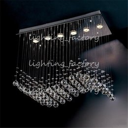 Wholesale Contemporary Crystal Chandeliers Sale - Free shipping promotion sales most popular style curtain wave 6 lights L750*W300*h650mm contemporary crystal chandelier