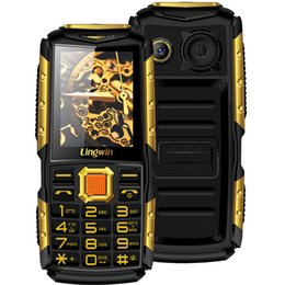Wholesale Mobile Flash Light - Wholesale 2.4 Inch Outdoor Shockproof Rugged Feature Mobile Cell Phone 3100mAh Power Bank Function Dual Flash Light FM Radio Loud Lingwin N2