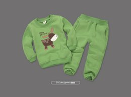 Wholesale Kids Cartoon Embroidery - Kids Cartoon Tracksuits 2 Piece Sets Baby Boys Girls Embroidery Sports Suit(top+pant) Children's Activewear Boys Outfits Kids Casual clothes