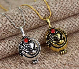 Wholesale Vampire Diaries Vervain Necklace - New The Vampire Diaries Diary Lockets Necklaces Elena Nina Vervain Pendant With Crystal
