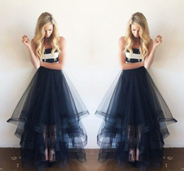 Wholesale Tulle Adult Skirt Xl - Sexy Black Tulle Layers Skirts Asymmetrical multilevel Floor Length Adult Tutu Bust Skirt Formal Cocktail Skirts Girl Skirts