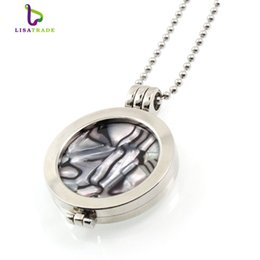 Wholesale Disc Holders - My coin necklace 33mm coins disc fashion for women gift fit 35mm coin holder set with 80cm bead chain 19 style can choose.MICP08-19