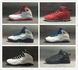 Wholesale Ups Nyc - Wholesale Retro 10 RIO NYC City Pack Black CHI CHICAGO Dark Grey Gold LA Hornets Black White OVO Men Women Basketball Shoes Sneakers