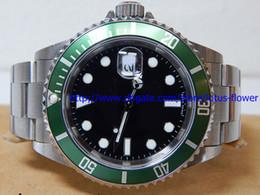 Montres de plongée perpétuelles en Ligne-Montre d'anniversaire de lunette en céramique de luxe vert 116610LV Boîte d'origine de montres de plongée perpétuelles