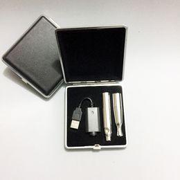 Wholesale E Cigarette Packaging - E Cigarette Puffco Pro Skillet V2 Vape Pen Wax Vaporizer Starter Kit With Quartz Dual Coil Ceramic Chamber Leather Box Package