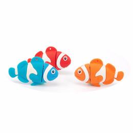 impulsiones flash de los pescados Rebajas Capacidad completa Silicone Clown Fish Nemo USB Flash Drive 4GB 8GB 16GB 2GB 1GB Pen Drive USB 2.0 Memory Stick Pendrive Color Fish Memoria Flash