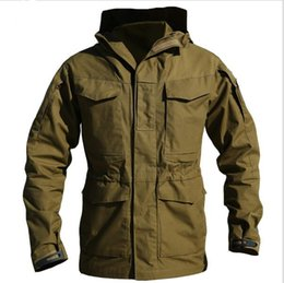 Wholesale M65 Field Jacket L - M65 UK US Army Clothes Casual Tactical Windbreaker Men Winter Autumn Waterproof Flight Pilot Coat Hoodie Military Field Jacket