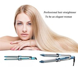 Wholesale Hair Straightener Titanium Plates - 2017 Plate Straightener PRO 3000 Na-No! TITANIUM 1 1 4 plate Flat Iron Ionic hair straightening with irons