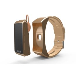 Wholesale Time Headset - TalkBand JAKCOM B3 Bracelet Also Bluetooth Headset OLED Screen Touchpad Pulse Heart Rate Step Time Bluetooth Earphone