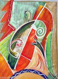 Wholesale Musician Oil Painting - Musician,Pure Hand Painted Abstract Art Oil Painting On High quality Canvas.any customized size accepted