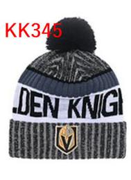 Wholesale Girl Sports Caps - hot sale 2017 Golden Knights beanie Vegas Men Cool Women Sport warm winter beanies with pomp Caps Hats Accept Drop ship