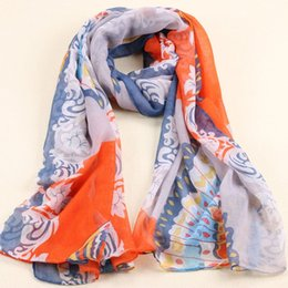 Wholesale Scarf Big Butterfly - 2016 Fashion Accessories winter scarf Women Big Size Scarf Long Shawl Butterfly Pattern Pashmina Voile Velvet Infinity Scarves