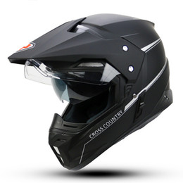 Wholesale Yohe Visor - wholesale YOHE motorcycle helmet dual lens cross country helmet off road racing motocross helmet with inner sun visor capacete casque moto
