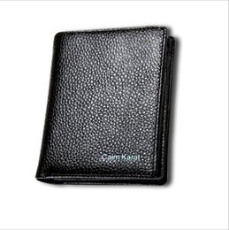 Wholesale Opening Drive - Top Grain Leather Wallets for Men Black Coffee Short Billeteras Driving License Purse with Card Position Factory Price