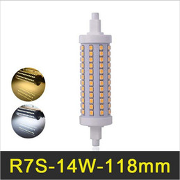 Wholesale dimmable floodlight - R7S corn led 118mm 14W SMD2835 Lampada LED light bulbs Dimmable Bombillas LED Light AC110-240V Replace Halogen Floodlight
