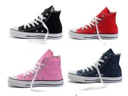 Wholesale Square Toe Shoe - 2016 Drop Shipping New Unisex Low-Top & High-Top Adult Women's Men's Canvas Shoes 10 colors Laced Up Casual Shoes Sneaker shoes shoe