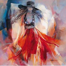 2019 figura de la señora Willem Haenraets art Figure Paintings Elegante Lady Summerdress lienzo reproducción de aceite Alta calidad pintado a mano figura de la señora baratos