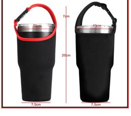 Wholesale Wholesale Mesh Bag - ForYeti Sleeve Holders Portable Package Handle Bags With Straps 30oz Cups Tumbler Mesh bag ForRocky Mountain Mugs Holder Sleeves Easy Carry