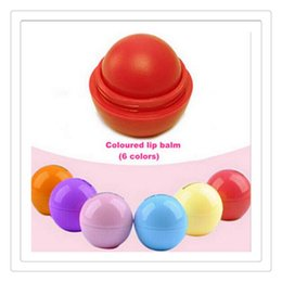 lipstick makeup tools lip balm Promo Codes - New 3D Ball Lip Balm Round Ball Balm Makeup Lipstick Moisturizing Natural Plant Sphere Fruit Lip Pomade Gloss Embellish Lip Care Tools Gift