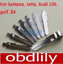 Wholesale Replace Blank - Folding key blanks For Santana, Jetta, Audi 100, golf ,B4 Car key embryo replacing the key head NO.01
