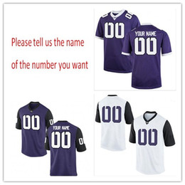 Wholesale Frog Custom - Cheap Custom TCU Horned Frogs College jersey Mens Women Youth Kid Personalized Any number of any name Stitched purple white Football jerseys