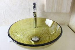 Wholesale Glass Wash Basin Sink - Glass Basin Vanity bathroom wash sink Wash Basin Glass Bowl glass sink bowl bathroom furniture N-790