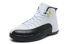 Wholesale Denim Retro Top - cheap retro 12 white black color sneakers hot sale online XII 12s trainers cheap sale free shipping top quality size 13US