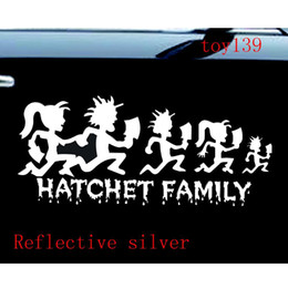 Wholesale Icp Hatchetman - ICP HATCHETMAN FAMILY Hatchet Girl Decal Vinyl Sticker   funny diy Car phone wall window Decal sticker  reflective silver