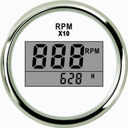 """Contagiri digitale universale RPM REV Contatore contagiri con contaore 9990RPM 52mm 2 """"9-32V con retroilluminazione da"""