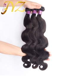 Wholesale Top Quality Hair Extensions - Big Sale! Top Quality Selling brazilian body wave hair Weaves Unprocessed Virgin Human Hair Extensions Brazilian Human Hair