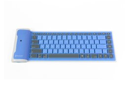 Wholesale Mobile Bluetooth Wireless Keyboard - Cheap price Mobile phone tablet ISO android universal wireless bluetooth keyboard waterproof foldable silica gel soft keyboard