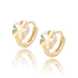 Wholesale Hoop Earrings For Girls - Xuping Promotion Prcie Multicolour Earrings Fashion Cute Flower Shape Huggie Copper Jewelry Earrings For Girls Hot Sell DH-10-90700N3