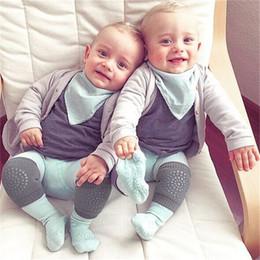Wholesale infant knee pads crawling - Cotton Baby Knee Pads Protector Kids Crawling Elbow Cushion Anti Slip Crawl Children Short Kneepad Infants Baby Kneecap Socks