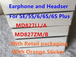 Wholesale Headphones Remote Box - OEM A+++ Genuine Quality headset in ear headphones With Remote and Mic for phone 6 6S plus 5 5s with retail box For Samsung S6 S6 Edge Note