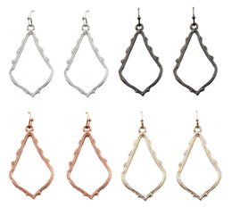 Wholesale Christmas Gift Kendra Style Sophee Alloy Frame Oval Earrings Fashion Dangle Earrings for Women