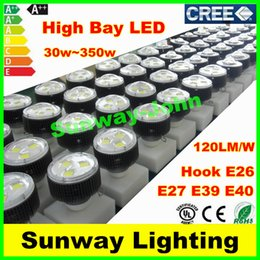 Wholesale Natures Shop - CREE 80W 100W 120W 150W 200W 250W 300W 350W Led E39 E40 Hook High Bay Light Bulbs Industrial Shop Lights Warehouse Supermarket Lighting