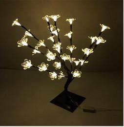 Luzes led lotus outdoor on-line-47 cm de Altura Branco Quente 32 LEDS ao ar livre levou Lírio de Água luz da árvore para o Natal levou natal decoração Da árvore de Lótus