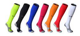 Wholesale Lycra Long Stockings - Long tube towel bottom protection lower leg ankle stocking sven color Shockproof ventilation non-slip Lycra elastic