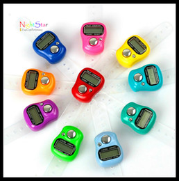 Wholesale counter for finger - Wholesale- Digit Digital LCD Electronic Golf Finger Hand Ring Tally Counter For runing walking dancing