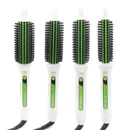 Cepillo redondo eléctrico para rizar el cabello Cepillo 2 en 1 Cepillo de cerámica para alisar el cabello 18 mm, 22 mm, 24 mm, 30 mm 4 tamaños Diseño de seguridad Cepillo para el cabello desde fabricantes