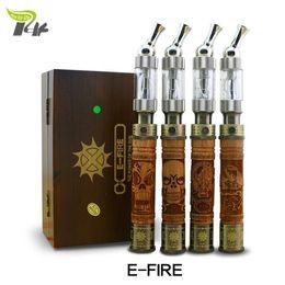 Wholesale Wood Ecigarette - New 2014 wooden electronic ecigarette vaporizer vape pen smoking mechanical mod kit e fire wood e-fire cigarro eletronico A5