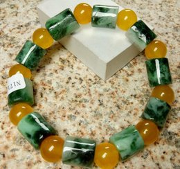 Wholesale Certified Jade - Certified Translucent Natural Grade A Jadeite Jade Circle Bead Stretchy Bracelet